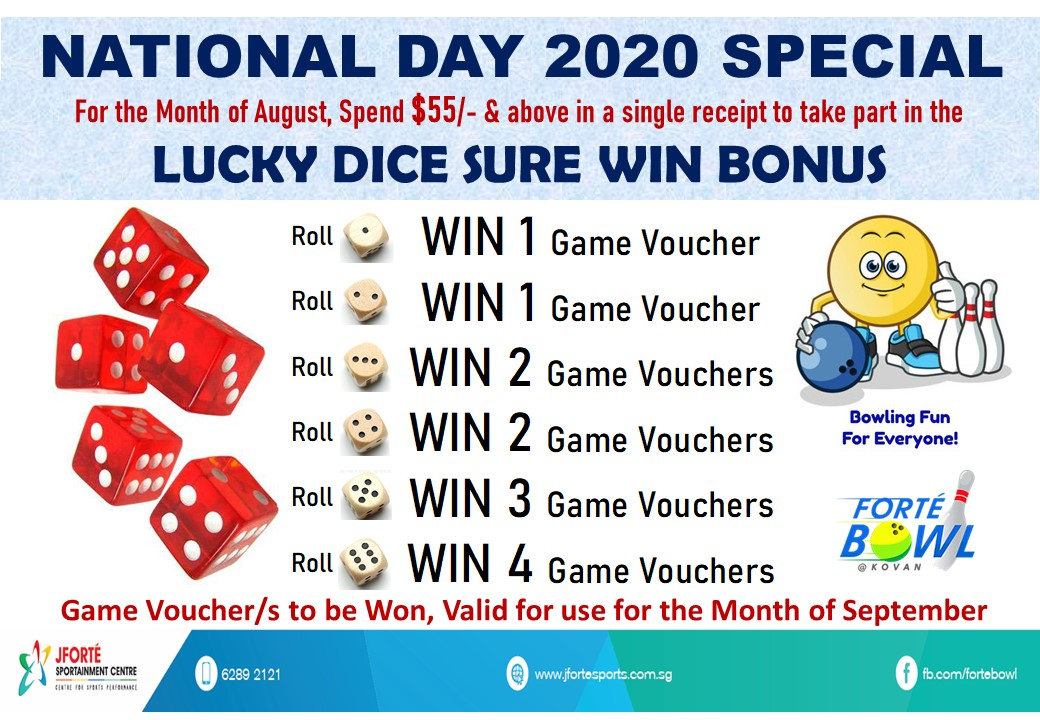 National Day Promo 2020, Lucky Dice